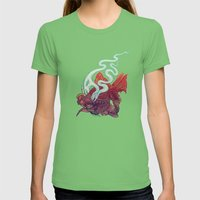Ocean Jewel Womens Fitted Tee Grass SMALL