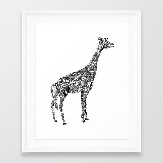 Designer Giraffe Framed Art Print