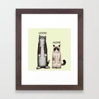 Look!-Nope Framed Art Print