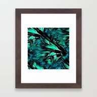 Jungle Trip (teal) Framed Art Print