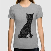 Eleven Quads Cat Womens Fitted Tee Athletic Grey SMALL