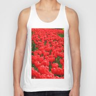 Red Tulips Unisex Tank Top