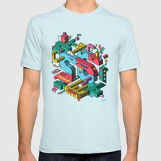 Font of all Known Ledges Mens Fitted Tee Light Blue SMALL