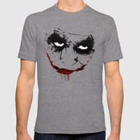 Why So Serious? Mens Fitted Tee Tri-Grey SMALL