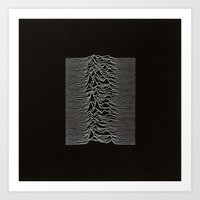 Unknown Pleasures Art Print