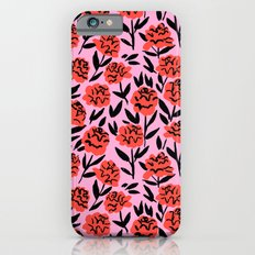Red Peonies iPhone 6 Slim Case