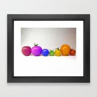 Rainbow Tomatoes Framed Art Print