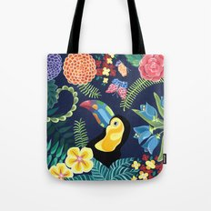 Natures Confetti Toucan Tote Bag