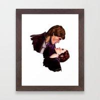 Star Wars, Han & Leia Th… Framed Art Print