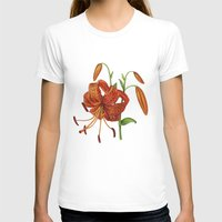 Lilium Tigrinum Womens Fitted Tee White SMALL