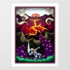 Pixel Art series 5 : The eye Art Print