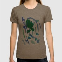 Rainy Day Womens Fitted Tee Tri-Coffee SMALL