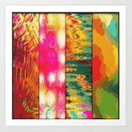 Art Print featuring Multi Pattern by Whiteflash