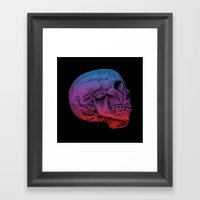 Rainbow Skull Joy Framed Art Print