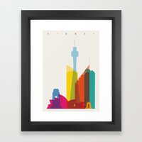 Shapes of Sydney. Accurate to scale Framed Art Print