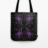 Circuit board purple repeat Tote Bag