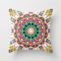 Colorful Concentric Abst… Throw Pillow