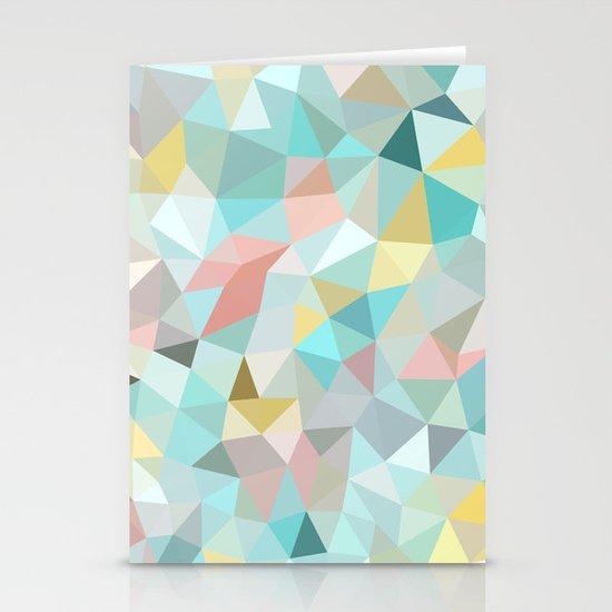 Pastel Tris Stationery Card