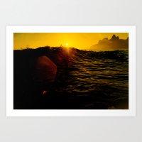 #021 Sunset rj Art Print