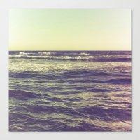 Waves Ver.vintage Canvas Print