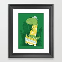 Hop-on-hop-off Framed Art Print