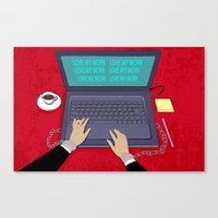 LOVE WORK Canvas Print