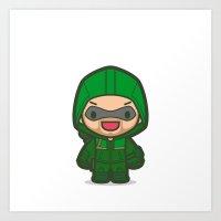 Green Archer Art Print