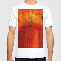 Uprooted Mens Fitted Tee White SMALL