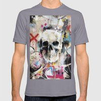 Skull Mens Fitted Tee Slate SMALL