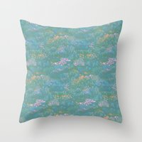 Blue Life in Death Valley Throw Pillow
