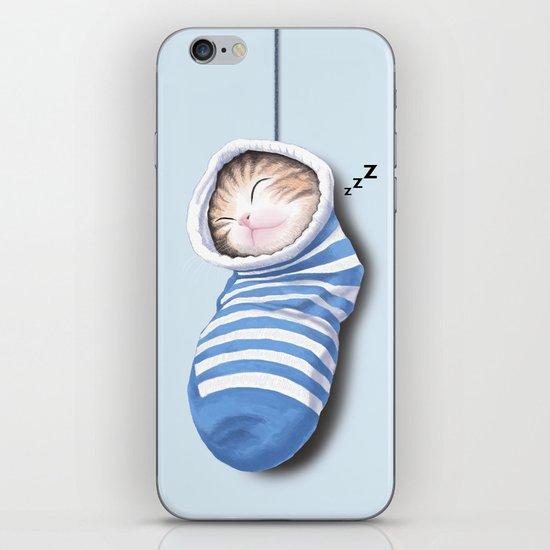 Cat in the Sock iPhone & iPod Skin