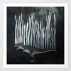 zebrex - the tyrex who wanted to become a zebra  Art Print