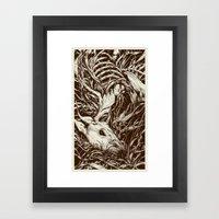 Doe-eyed Framed Art Print