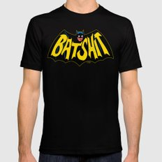 BATSHIT Mens Fitted Tee Black SMALL