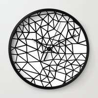 Segment Dense Black On W… Wall Clock