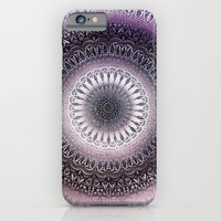 PURPLE WINTER LEAVES MANDALA iPhone 6 Slim Case