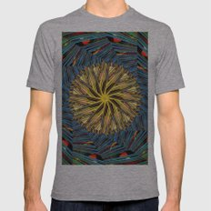 mandala circle lines Mens Fitted Tee Athletic Grey SMALL