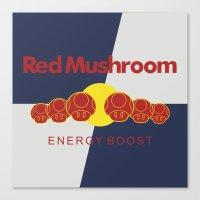 Red Mushroom Energy Boos… Canvas Print