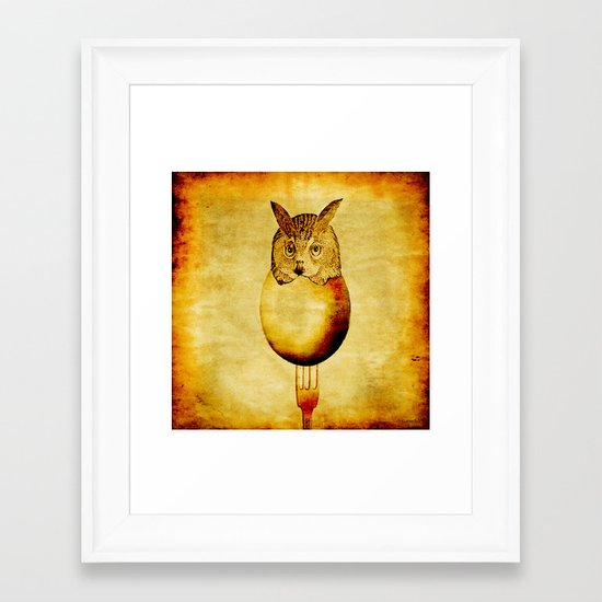 The hatching of owls Framed Art Print
