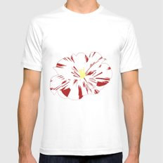 Camellia SMALL Mens Fitted Tee White