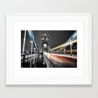 Tower Bridge at night Framed Art Print