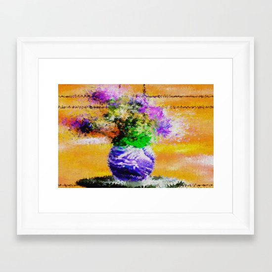 Floral still lifes. Framed Art Print