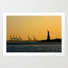 South Ferry Sunset Art Print