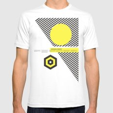 Impossible Symmetry - By White SMALL Mens Fitted Tee