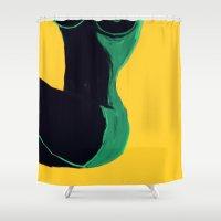 Swimmer #3 Shower Curtain