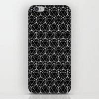 Icosahedron Pattern Blac… iPhone & iPod Skin