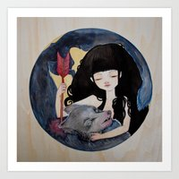 The First Seduction or Big Bad Wolf Having a Big Bad Day Art Print