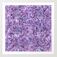 Damask Pattern 02 Art Print