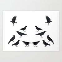 kargalar (crows) Art Print
