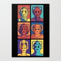 Cyberpop Evolution Canvas Print